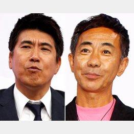 とんねるずの石橋貴明(左)と木梨憲武の高額ギャラも災い/(C)日刊ゲンダイ