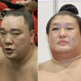 横綱日馬富士(左)と貴ノ岩