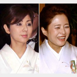 80年代アイドル出身の佐野量子(左)と三田寛子/(C)日刊ゲンダイ