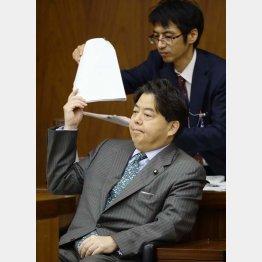 完全に居直った林文科相(C)日刊ゲンダイ