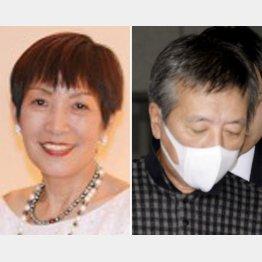 逮捕された原田一弥容疑者(右)と元妻の小野寺朝子容疑者(HPから)/(C)共同通信社