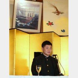かの明治天皇と同じ位置に座る清宮(C)日刊ゲンダイ