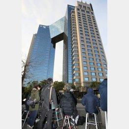 日馬富士が宿泊していると思われるホテル(C)日刊ゲンダイ