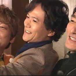 「72時間ホンネテレビ」の左から香取慎吾、稲垣吾郎、草彅剛