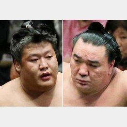日馬富士(右)と貴ノ岩/(C)日刊ゲンダイ