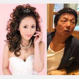 ものまねタレントのSeikoさん(左)と逮捕された小林英雄容疑者(提供写真)