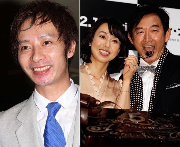 いしだ壱成(左)と石田純一・東尾理子夫妻(C)日刊ゲンダイ