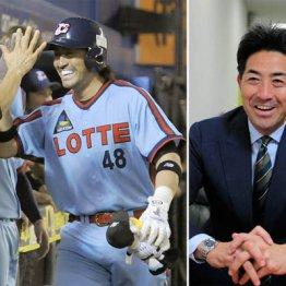 ロッテ時代(左)のG.G.佐藤さん