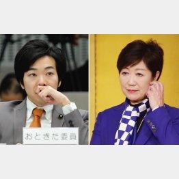 「来る者は拒みません」と音喜多氏(左)/(C)日刊ゲンダイ