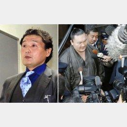 混乱に拍車をかける貴乃花親方(警察の聴取に「リモコンで殴ったのを見た」と証言した白鵬=右)/(C)日刊ゲンダイ