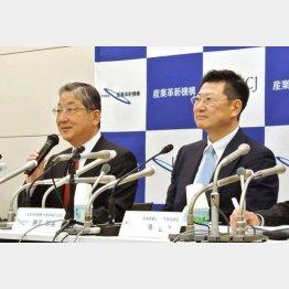 日産出身の志賀会長(左)/(C)共同通信社