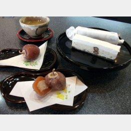秋から3月まで毎年販売する「恵方柿」は1個350円/(C)日刊ゲンダイ