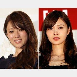 女性人気の高い深田恭子と白石麻衣(C)日刊ゲンダイ