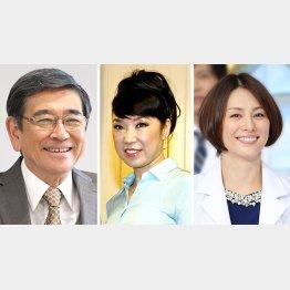 (左から)太っ腹な差し入れで知られる石坂浩二、松任谷由実、米倉涼子/(C)共同通信社