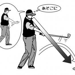 アプローチのダフリ防止はボールを放る感覚で振る