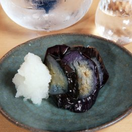 【ナスの揚げ浸し】ナスと油と酢飯の融合