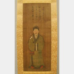 大英博物館の菅原道真を描いた「渡唐天神像」/(C)共同通信社