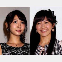 AKB48の柏木由紀(左)と渡辺麻友/(C)日刊ゲンダイ