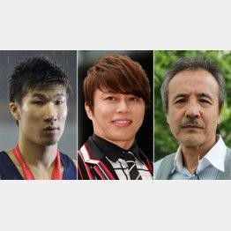 滋賀出身の有名人(左から桐生祥秀、西川貴教、岡林信康)(C)日刊ゲンダイ