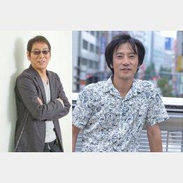 津田寛治(右)と大杉漣(C)日刊ゲンダイ