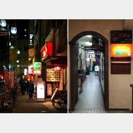 駅を出てすぐ左の商店街へ、店は全部で10軒ほど(C)日刊ゲンダイ