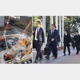 特捜部が大成建設を家宅捜索(左は「名城非常口」の新設工事現場)/(C)共同通信社