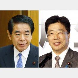 下村博文元文科相(左)と加藤勝信厚労相からの返答はないが…/(C)日刊ゲンダイ