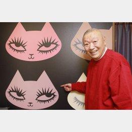「オレ、猫語話せるんだよ!」と安部譲二さん/(C)日刊ゲンダイ