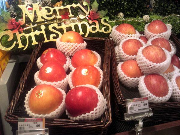 台北ではクリスマス用に贈る!?価格は1個49元だった(提供写真)
