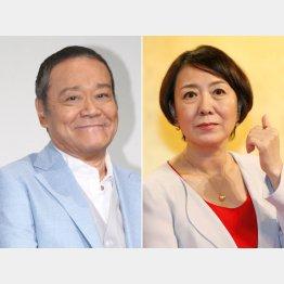西田敏行さん(左)と中園ミホさん(C)日刊ゲンダイ