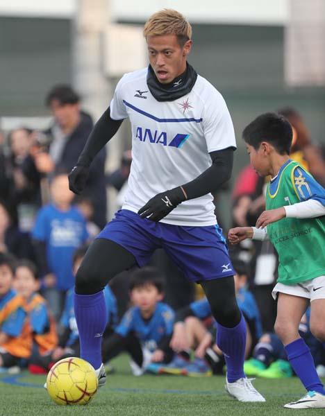イベントを主催したANAは本田の個人スポンサーでもある(C)Norio ROKUKAWA/office La Strada