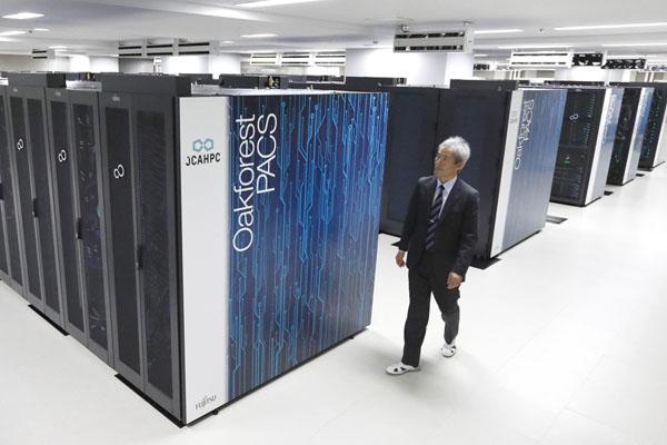 スパコンを超える?(東京大と筑波大が運用する国内最速スパコン「オークフォレスト・パックス」)/(C)共同通信社