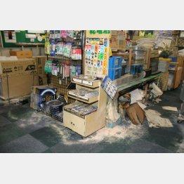 現場となった店も被害に…(C)共同通信社