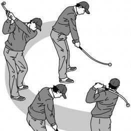 シャフトが曲がった練習器具はダウンでシャフトを立てる感覚を養える