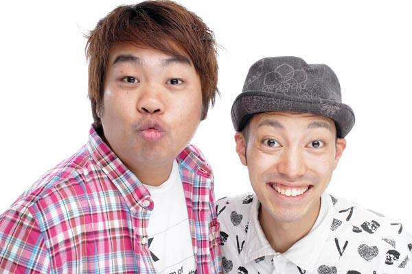「わらふぢなるお」のなるお(左)とふぢわら(C)グレープカンパニー/サンミュージック