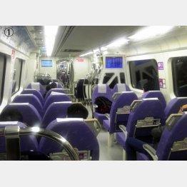 台北まで約35分。桃園メトロの急行車内はキレイ(提供写真)