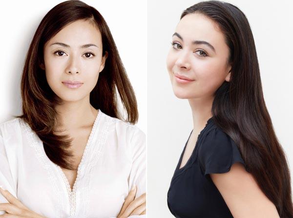 後藤久美子(左)と娘のエレナ