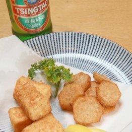 【里イモと豆腐の揚げ物】味付きの唐揚げ粉を使えば初心者でも超簡単
