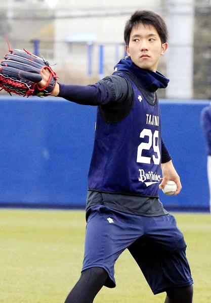 西武と競合の末に獲得した田嶋(C)日刊ゲンダイ