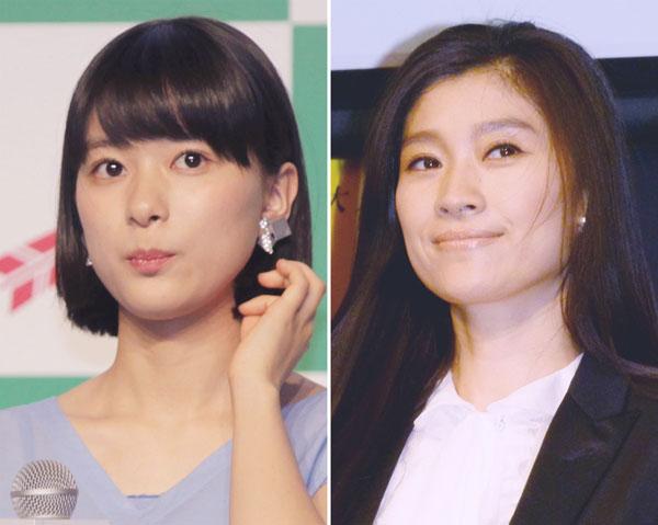 同じ事務所に所属する芳根京子(左)と篠原涼子(C)日刊ゲンダイ