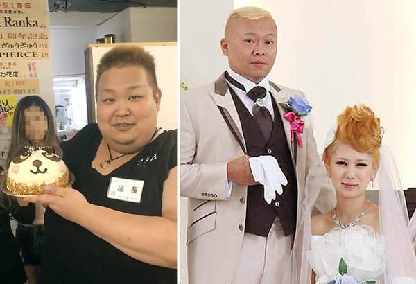 経営者の向井正男&岬容疑者(右)と店長の御園生裕貴容疑者