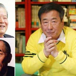 左は川淵三郎さん(上)と樋口廣太郎さん