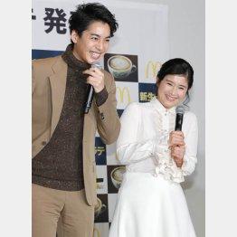 石田ひかりと大野拓朗(C)日刊ゲンダイ