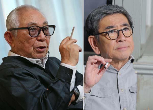 倉本聰氏(左)と石坂浩二/(提供写真)