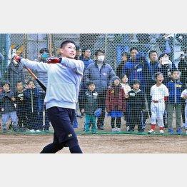 筒香の打球に子どもたちは仰天(C)日刊ゲンダイ