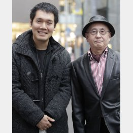 神田松之丞(左)と吉川潮氏/(C)日刊ゲンダイ
