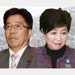 加藤厚労相(左)と小池都知事/(C)日刊ゲンダイ