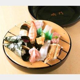 新鮮な魚介を用いた「大名寿司」/(C)日刊ゲンダイ