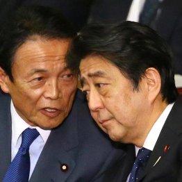 安倍首相と話し込む麻生副総理