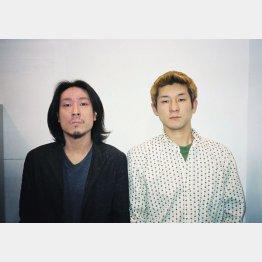 デビュー当時の西田幸治と哲夫(右)/(提供写真)